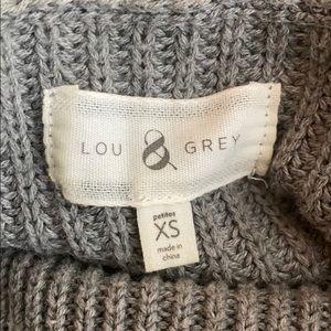 Lou & Grey Sweaters - Lou & Grey Petite grey knit cowl neck sweater- XSP